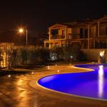 Myrsine, your home in Sardinia, swimming pool at night