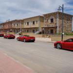 "Myrsine residences, your dream home in Sardinia meet Ferrari ""Ferrari Red Night"" behind the house"