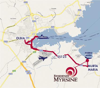 Residenze Myrsine - come arrivare